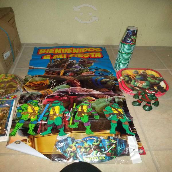 Paquete para fiesta infantil tortugas ninja