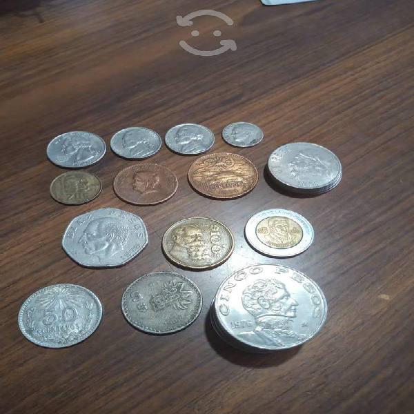Colección de monedas antiguas de méxico y estados