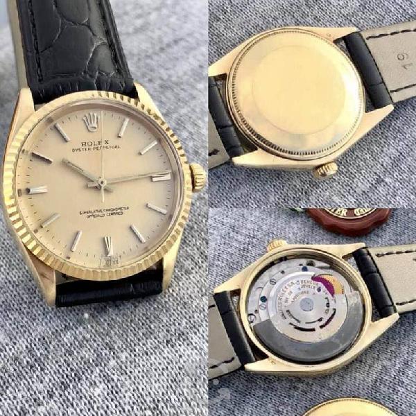 Reloj rolex oyster oro sólido automático hombre