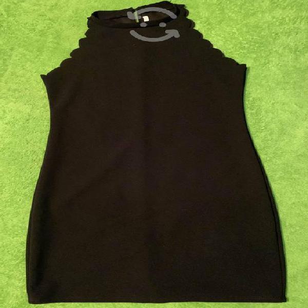 Vestido negro de shasa