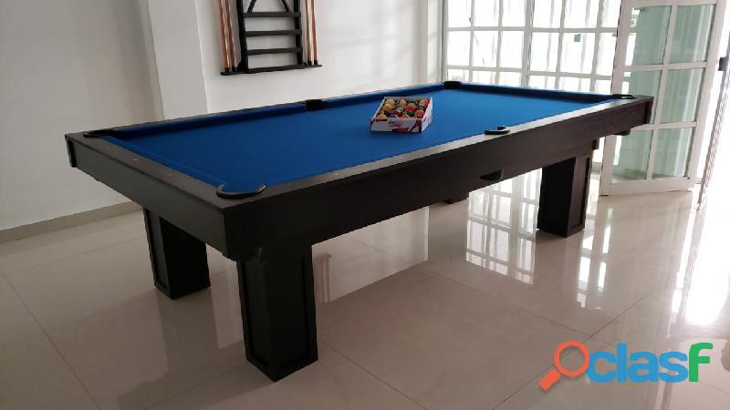 Excelente mesa para jugar pool, pizarra de piedra española