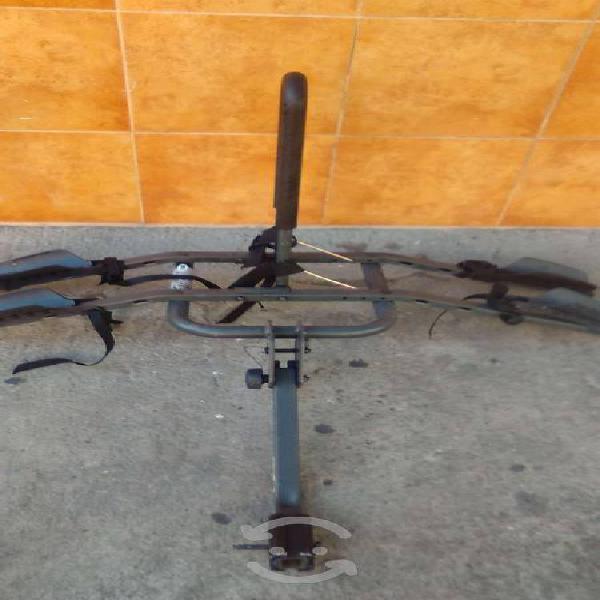 Rack portabicicletas de tirón para 2 bicis