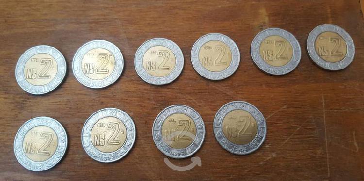 Set de monedas nuevos pesos