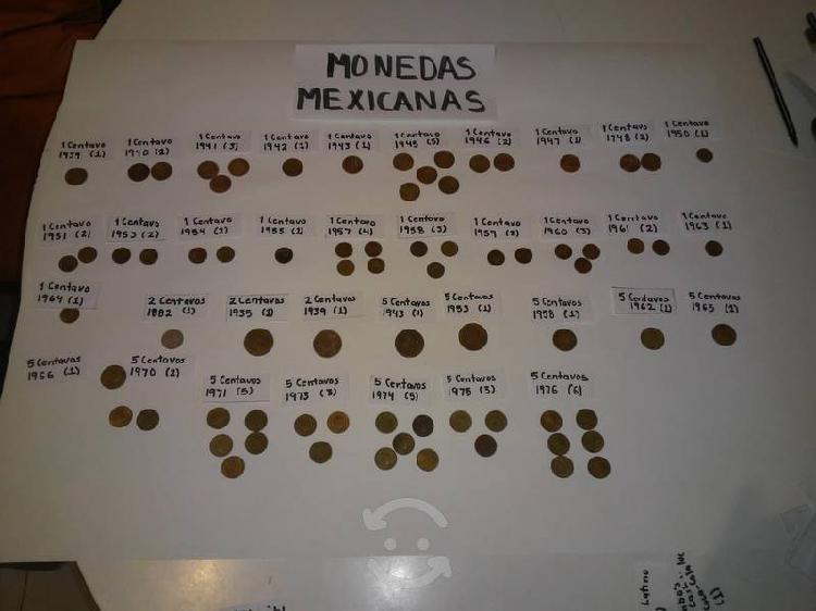 Vendo 335 monedas antiguas mexicanas y extranjeras