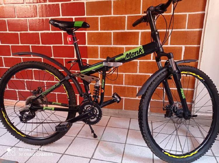 Bicicleta plegable de aluminio rodada 26