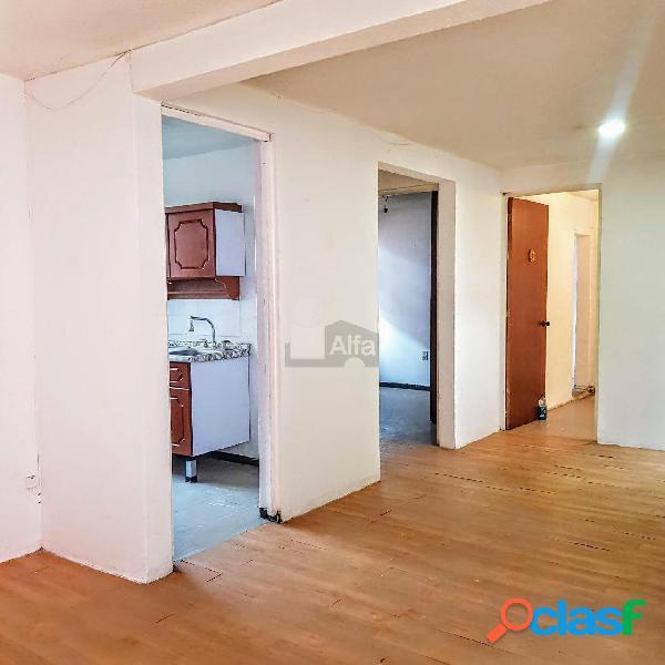 Departamento en venta en tlahuac en villa centro americana con 2 recamaras y 64 m2c