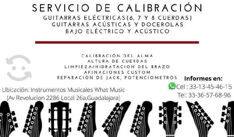 Calibracion y mantenimiento de guitarras, docerola