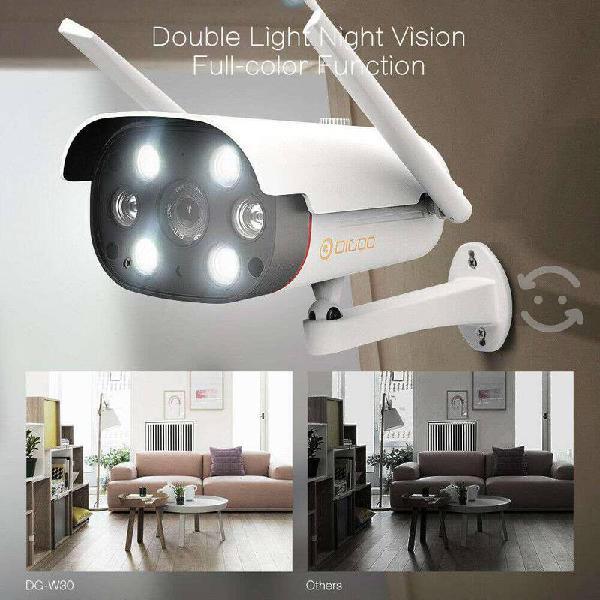 Cámara ip doble luz tipo bala visión nocturna