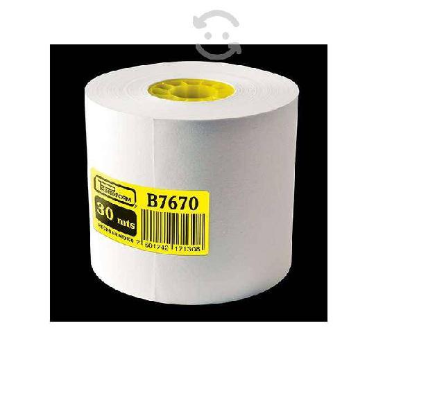 Rollo de papel pcm b7670 rollos de papel color bla