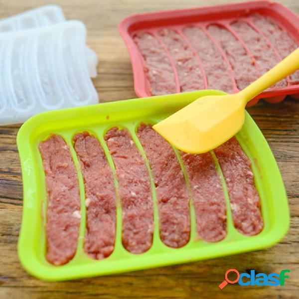Grado alimenticio molde de salchicha de silicona diy hot dog hornear herramientas de pastelería hecho en casa hot dog maker