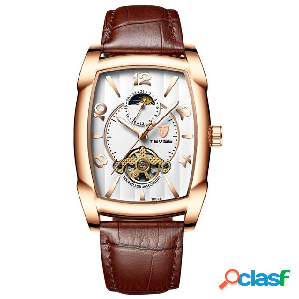 T802b business style reloj de pulsera para hombre moonphase date pantalla reloj automático mecánico