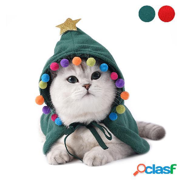 Ropa para mascotas de navidad transformación de halloween divertido gato capa de ropa
