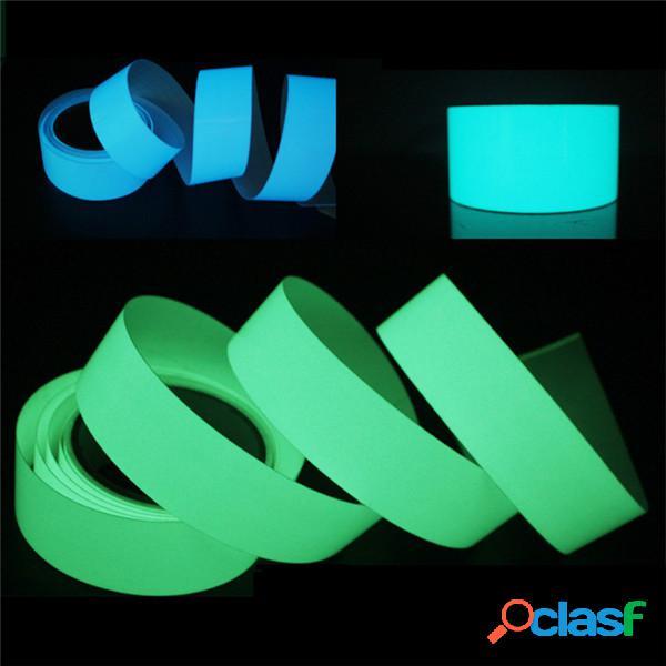 Cinta luminosa de 5 mx 15 mm autoadhesiva verde azul que brilla en la oscuridad escenario de seguridad decoración del hogar