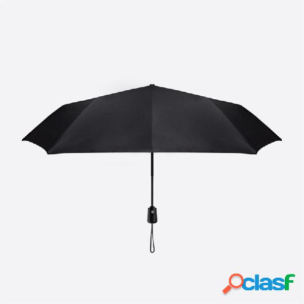 Original xiaomi paraguas plegable automático anti-uv paraguas grandes a prueba de viento equipo de lluvia resistente al viento