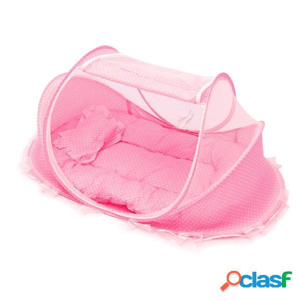 Bebé mosquiteros ropa de cama cuna guardería cuna portátil plegable cuna infantil tienda estera de cama