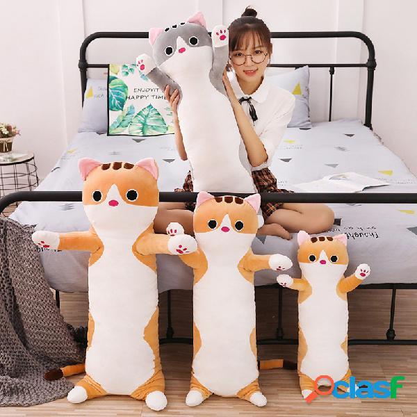 Animal sweet gato algodón largo gato muñeca de peluche de juguete soft almohada de dormir de peluche muñeca de peluche de dibujos animados