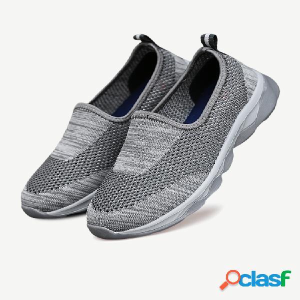 Zapatos para caminar ligeros de tela transpirable para hombre