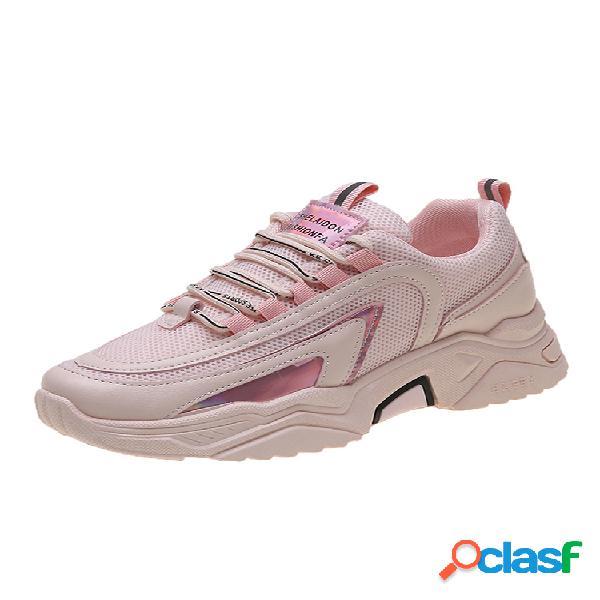 Mujer line decor surfaces zapatos planos con cordones