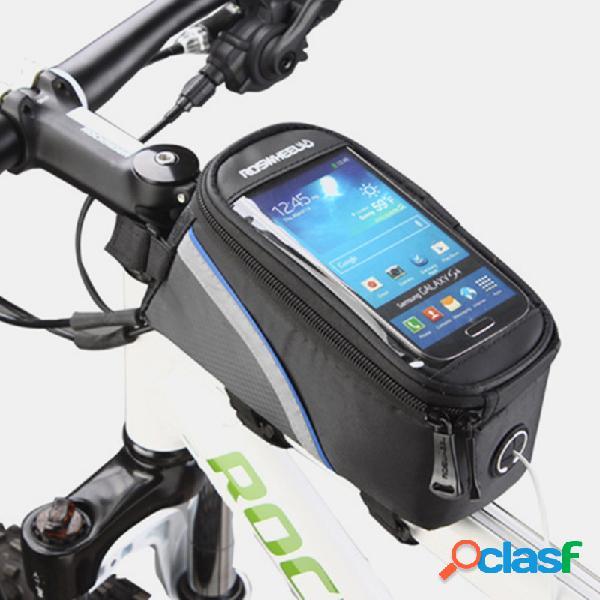 Bicicleta bolsa teléfono con pantalla táctil bolsa teléfono con pantalla táctil bolsa 5.7 inch