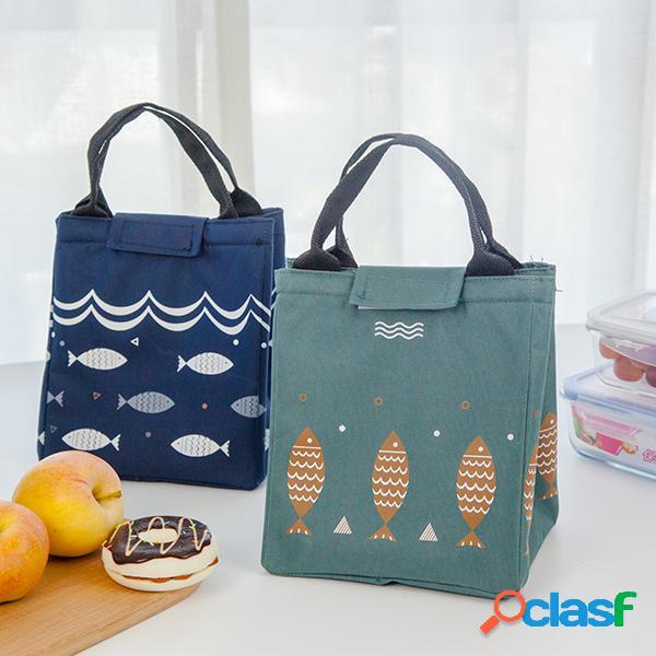 Saiclehome bolsa de almuerzo bolsa oxford impermeable bolso con aislamiento más fresco lindos contenedores de almacenamiento