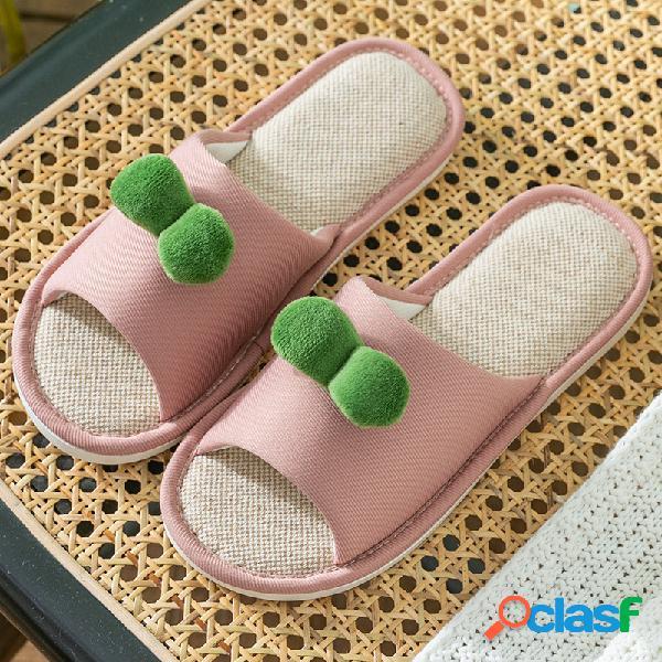 Mujer house hairball decor flat color flats inicio zapatillas