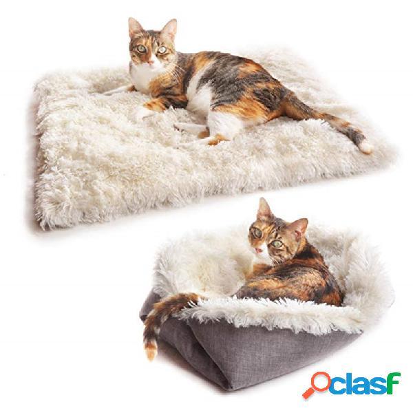 Gato litter pet mat perrera de doble uso gato mat long plush gato colchón pet nest autumn and nest
