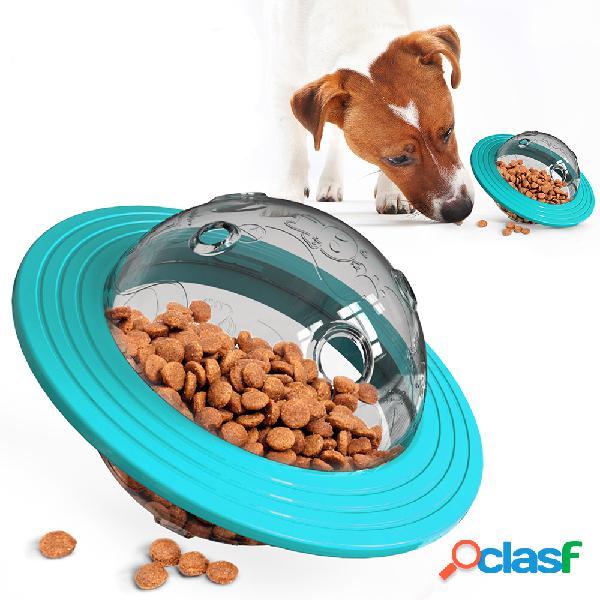 Ufo shape interactive perro gato food ball bowl toy toy shaking foods contenedor de fugas para alimentación de cachorros herramienta