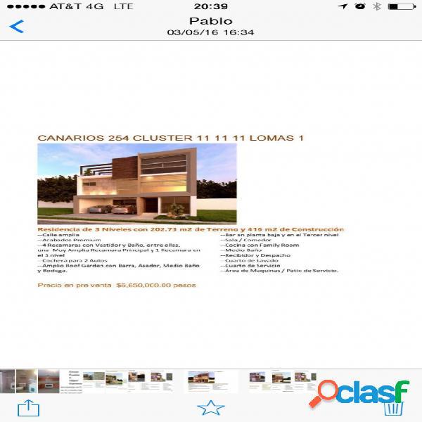 Casa sola residencial en venta en fraccionamiento lomas de angelópolis closster 11 11 11, san andrés cholula