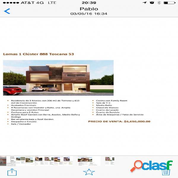Casa sola residencial en venta en fraccionamiento lomas de angelópolis closster 888, san andrés cholula