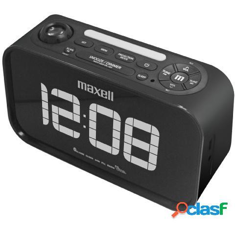 Maxell radio despertador, fm, bluetooth, negro