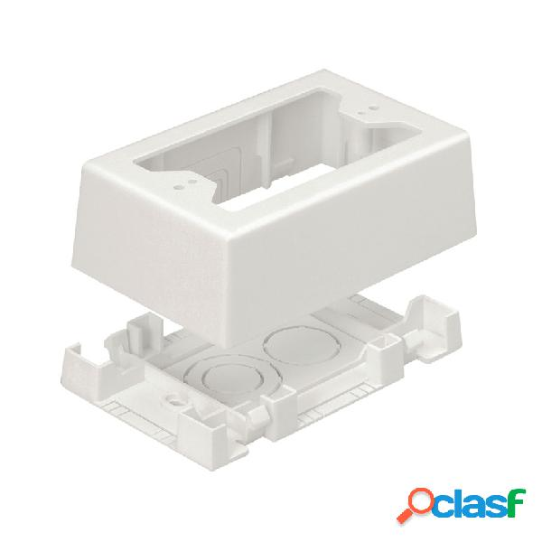 Panduit caja sencilla con adhesivo para canaleta t-45, blanco