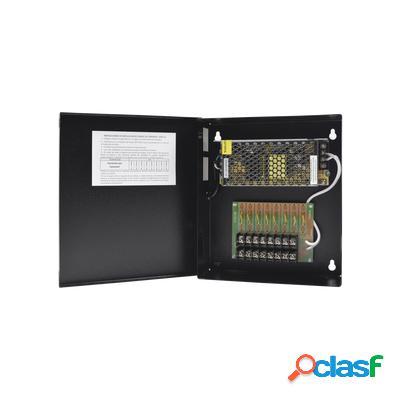 Epcom fuente de poder para 8 cámaras cctv grt-1204-vdct-v3, entrada 100 - 240v, salida 12v
