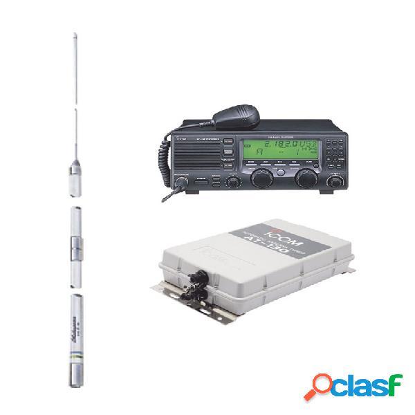Icom radio análogo portátil de 2 vías ic-m700pro-kit2, 150 canales, negro - incluye sintonizador y antena