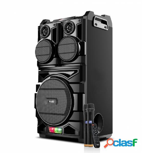 Klip xtreme bigbash mini componente, bluetooth, 600w rms, usb 2.0, karaoke, negro