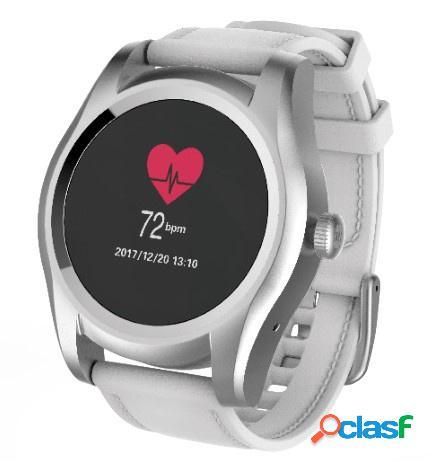 Ghia smartwatch gac-144, touch, bluetooth 4.0, android 7.1/ios 9.3, plata - resistente al agua