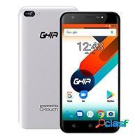 Smartphone ghia qs702 5.5'', 1280 x 720 pixeles, 8gb, 1gb ram, 3g, android 7.0, plata