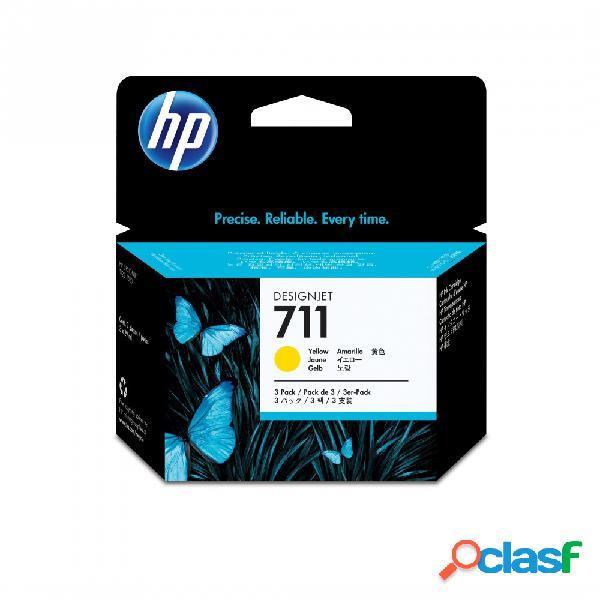 Cartuchos HP 711 Paquete Triple Amarillo 29ml - ¡Compra y recibe el 5% del valor del producto en saldo de regalo para tu siguiente pedido!