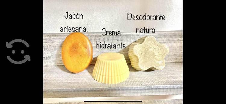 Kit de (3) jabón, crema sólida y desodorante eco