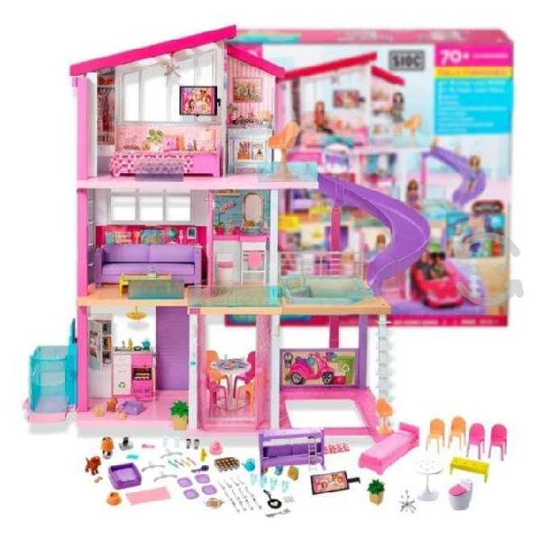 Mega casa de muñecas 70 accesorios - barbie play h