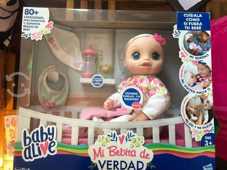 Muñeca baby alive, mi bebita de verdad hasbro