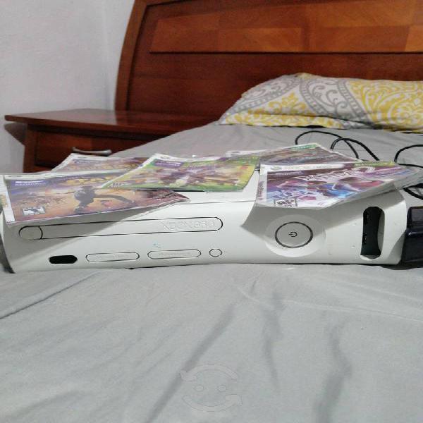 Xbox con kinect control y juegos
