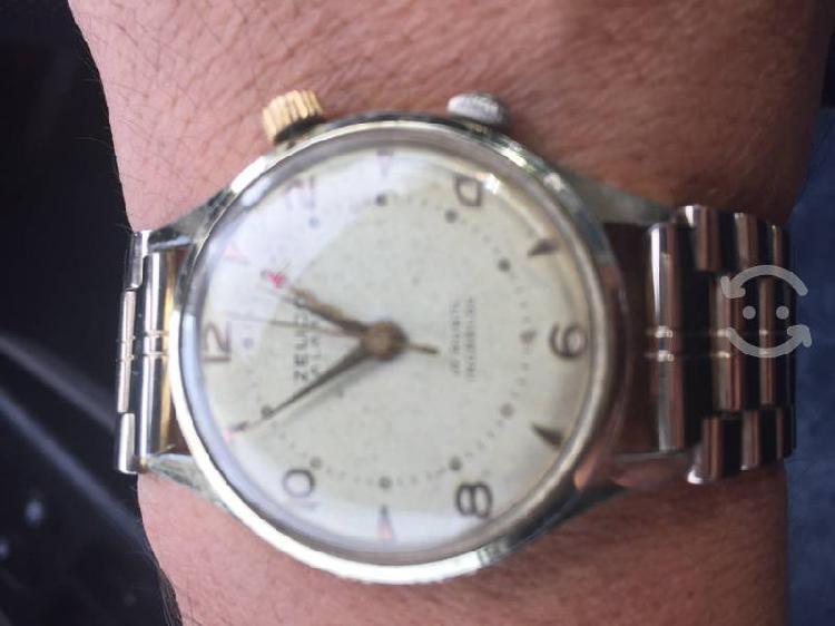 Reloj zelico vintage alarma cuerda swiss pos cambi
