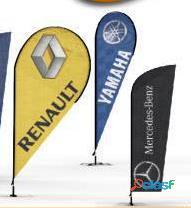 Banderas con tripie y estructura metalica varios diseños