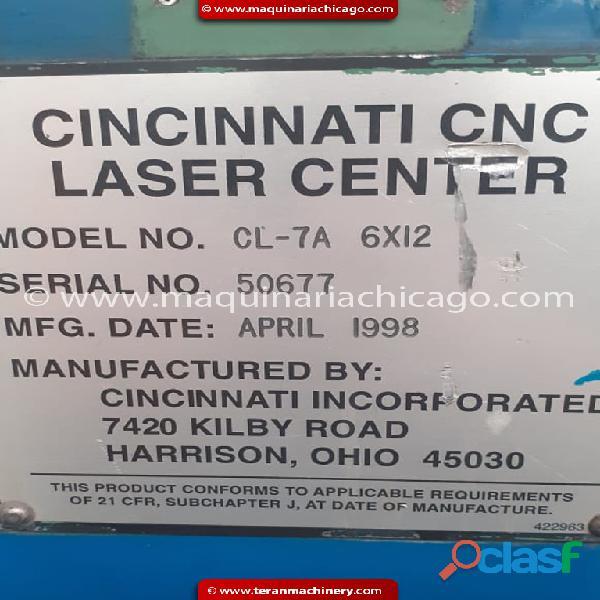 LASER CNC CINCINNATI 1/2 EN VENTA 3