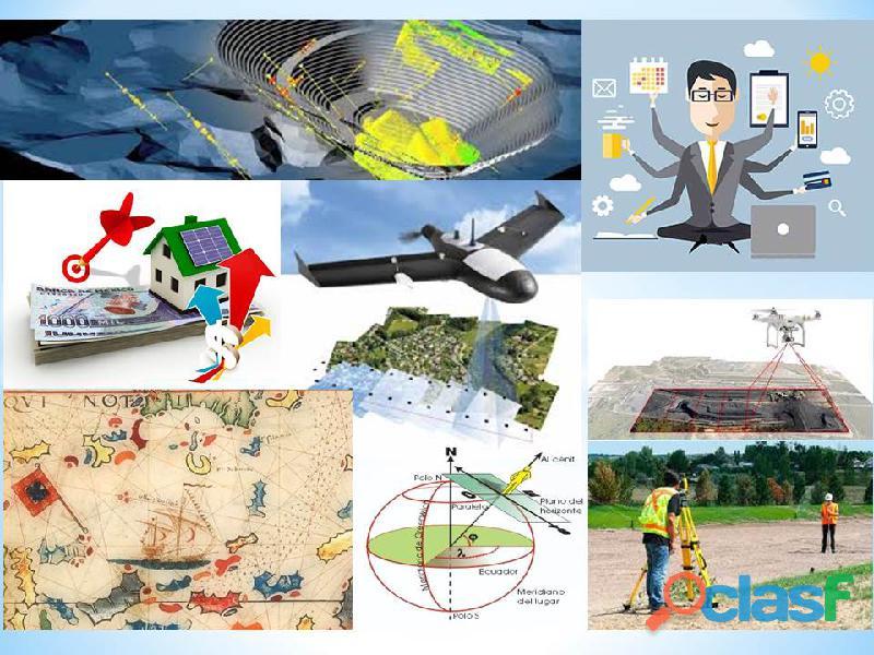 Medición de terrenos, Topografía, Avalúos inmobiliarios.