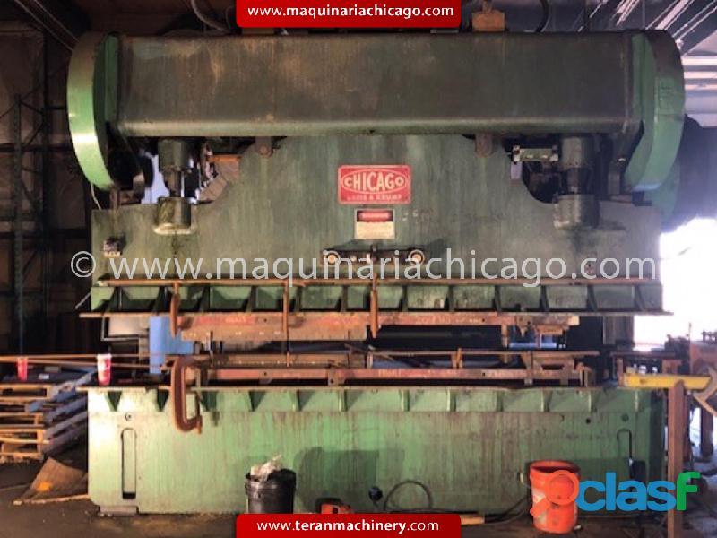 PRENSA CHICAGO 12' X 225 TON EN VENTA!