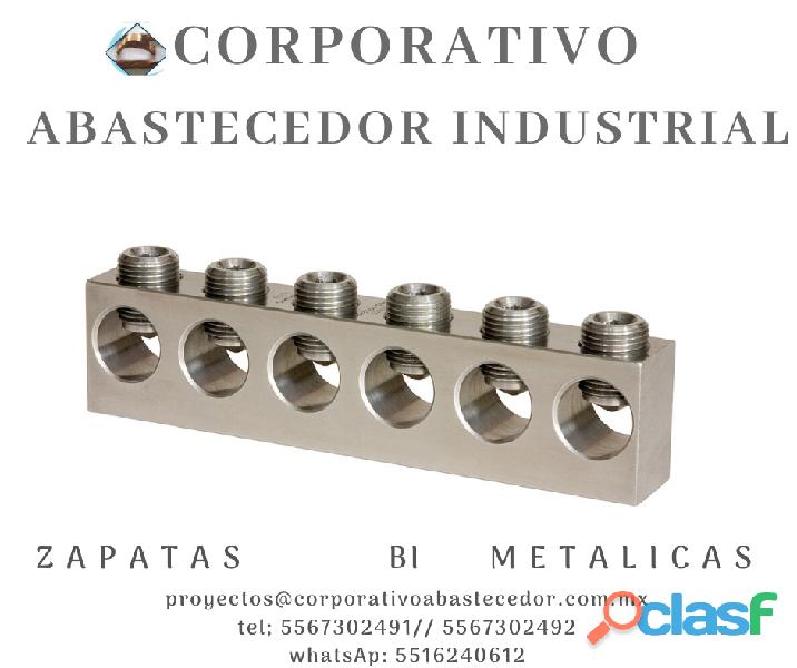 Venta de zapatas de aluminio y cobre