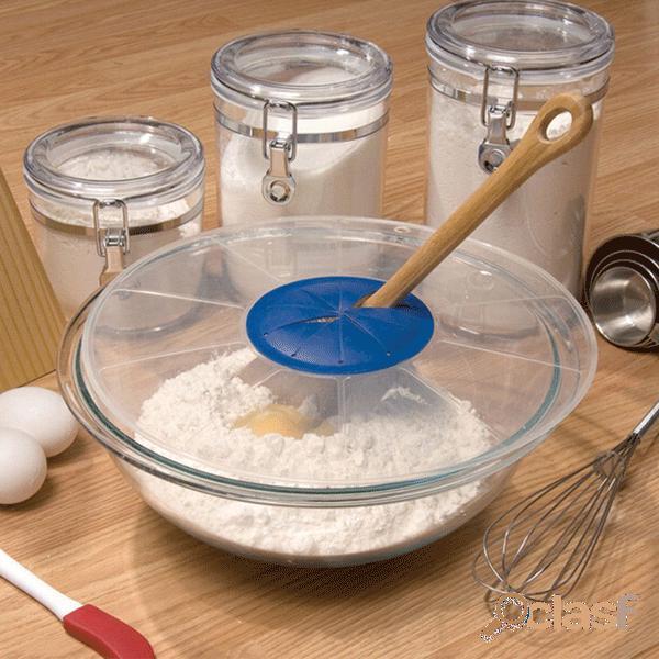 Práctico mezclador de huevos tapa antisalpicaduras tazón de huevos batidores cubierta de pantalla cilindro de batido protector contra salpicaduras para hornear