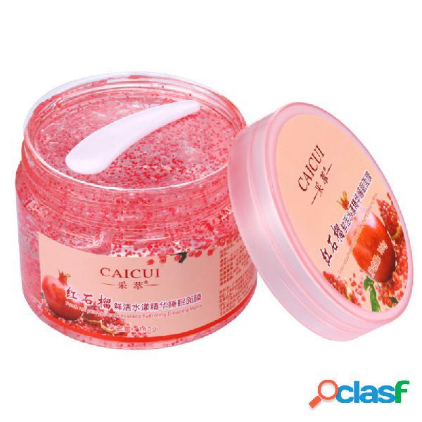 Máscara de dormir de granada roja hidratante hidratante reducir reparación de poros esencia crema cuidado de la piel facial