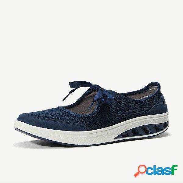 Zapatos de suela rocker con lazo hueco de gran tamaño